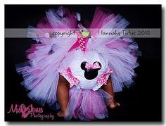 Birthday Tutu Minnie Mouse Birthday Party by HannahsTutus on Etsy, $30.00