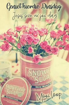 Miniature pink rose and vintage pink advertizing tin + Country + Spring My Flower, Pink Flowers, Beautiful Flowers, Vintage Flowers, Pink Roses, Flowers Vase, Romantic Flowers, Carnations, Pretty In Pink