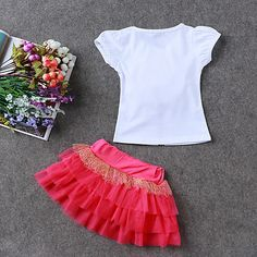 LZH Children Clothes 2017 Summer Kids Girls Clothes Set Flower T-Shirt+Skirt Outfit Girl Sport Suit Children Girls Clothing - Kid Shop Global - Kids & Baby Shop Online - baby & kids clothing, toys for baby & kid Cheap Girls Clothes, Kids Outfits Girls, Toddler Girl Outfits, Kids Girls, Baby Kids, Toddler Girls, Summer Kids, 2017 Summer, Sport Outfits