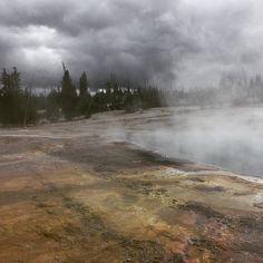 Lake of sulphur