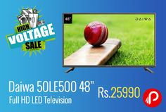 "Shopclues #HighVoltageSale is offering 13% off on Daiwa 50LE500 48"" Full HD LED Television at Rs.25990 Only. 1,920 x 1,080 Resolution, 2 USB Port, 2 HDMI Ports, 1 Year Manufacturer Warranty.  http://www.paisebachaoindia.com/daiwa-50le500-48-full-hd-led-television-at-rs-25990-only-shopclues/"