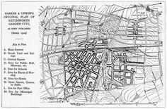 Barry Parker & Raymond Unwin. Original Plan of Letchworth Garden City. 1904