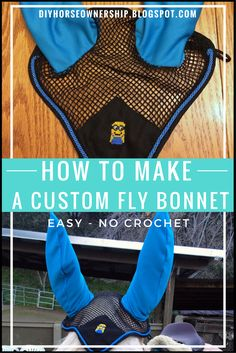 DIY: How to Make a Custom Fly Bonnet for your horse or mule the easy no crochet way