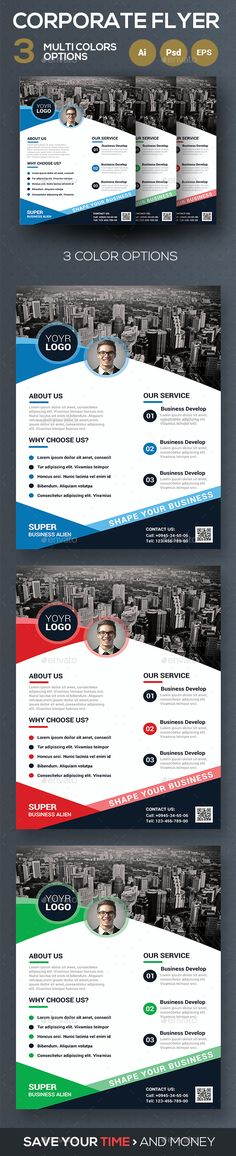 Corporate Flyer Template PSD, Vector EPS, AI Illustrator