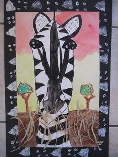 MaryMaking: Zebra and Giraffe Safari Portraits