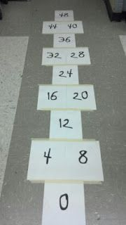 Miss B, Busy Bee: Multiplication Madness Fantastic multiplication practice ideas. Great for skip counting. Math Stations, Math Centers, Math Resources, Math Activities, Math Multiplication, Second Grade Math, Fourth Grade, Math Numbers, Homeschool Math