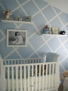 Beautiful blue and white nursery
