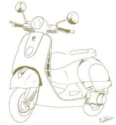 스쿠터 스케치에 대한 이미지 검색결과