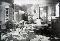Tatiana's room in the Winter Palace, ransacked 1917.
