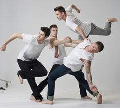 Shaping Sound Dance Company founders Travis Wall, Nick Lazzarini, Kyle Robinson and Teddy Forance