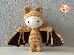 Crochet Bat, Crochet Teddy, Cute Crochet, Crochet For Kids, Crochet Dolls, Amigurumi Doll, Amigurumi Patterns, Crochet Patterns, Yarn Animals