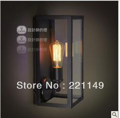 European style originality RH Loft modern simple Wall lamps ,Pandora Crystal glass box wall mounted lights.Free Shipping!-in Wall Lamps from Lights & Lighting on Aliexpress.com