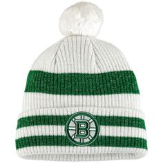 meet ba50b 86f2d Boston Bruins Old Time Hockey Women s St. Patrick s Day Eveny Cuffed Knit  Hat - Charcoal Green