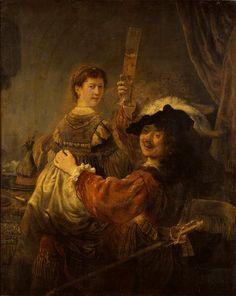 Rembrandt, Selfportrait with Saskia, c. 1635, Dresden, Gemäldegalerie Alte Meister