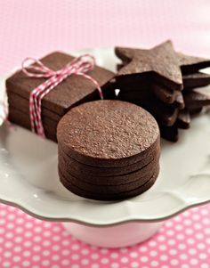 Dark Chocolate Sugar Cookies