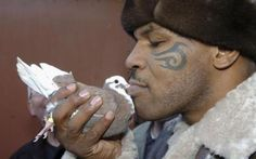 Mike Tyson — Pigeons  Iron Mike Tyson may have a tough exterior, but this fighter has a soft spot for his pet pigeons. He used to keep pigeons as pets as a child, and even had his first fight at age 11 when a bully ripped off the head of one of his pigeons.  Tyson also has a reality show about pigeon racing, which he does as a hobby with childhood friends.