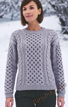Пуловер с косами (ж) 305 Creations 2016/2017 Bergere de France №4763 knitting