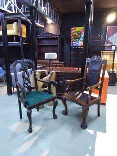 Cadeiras Restauradas - Modelo Colonial  @conexao_home Av. São João, 1907, São Paulo - SP - Estacionamento Próprio. Próximo à estação Santa Cecília do Metrô  WhatsApp: 11 95247-7966 Fone: 11 3667-1131  Segunda a Sexta: 08h30 às 19h00 Sábados: 08h30 às 14h00  Entregamos em todo o Brasil! #conexaohome  #cadeira #cadeiras #cadeiraantiga #cadeirasantigas #cadeirarestaurada #cadeirasrestauradas #cadeiracolonial Chair, Furniture, Home Decor, Refinished Chairs, Antique Chairs, Santa Cecilia, Parking Lot, Model, Brazil
