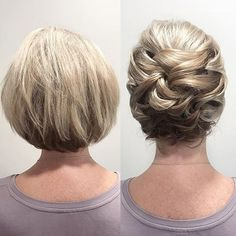 Peinados Formal Hairstyles For Short Hair, Easy Updo Hairstyles, Braids For Short Hair, Bride Hairstyles, Hairstyle Short, Wedding Hair Tips, Short Wedding Hair, Short Straight Hair, Short Hair Cuts