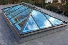 The Harrington Roof Lantern as seen from the outside Cottage Extension, Roof Extension, Extension Ideas, Flat Roof Skylights, Norway House, Garden Room Extensions, Timber Roof, Roof Lantern, Roof Window