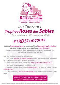 Jeu Concours Trophée Roses des Sables - du 11 octobre au 20 novembre 2012  #TRDSConcours