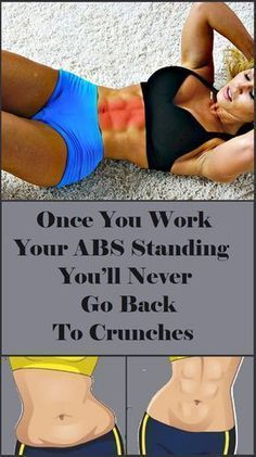 When it comes to ab workout most people picture crunches or some exercise that includes lying down on the floor... #women's #fitness #yoga #exercise