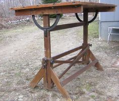 Antique Hamilton Drafting Table   I Have One Very Similar In My Studio.