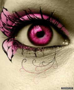 i like the hot pink contacts (or photoshop whtaev s)