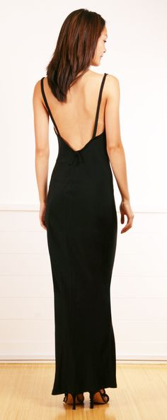 love the open back on this dress