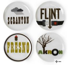 Jonathan Adler | Greyhound Travel Coaster Set | Visit Scranton, Fresno, Flint and Akron