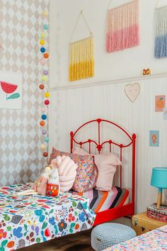 Break free from the usual 'blues for boys' and 'pink for girls' and transform your kid's room in stunning ways. Scroll through the amazing gender neutral room ideas for kids now. Girls Bedroom, Bedroom Decor, Fantasy Bedroom, Toddler Rooms, Big Girl Rooms, My New Room, Room Inspiration, Kids Room, Home Decor