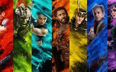 Lataa kuva 4k, Thor Download, merkkiä, 2017 elokuva, fantasia