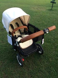 Love this Bugaboo for a little boy Yes yes yes! Bugaboo donkey duo with tan leather handles