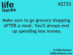 so true! I have been to the grocery on an empty stomach and its not pretty! I spend at least double what i normally would.