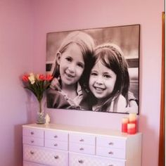 Love this for their bedroom, sisters or friends, no matter it's a great centerpiece. www.perfectprints.ie