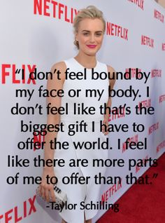 """Orange Is the New Black"" star Taylor Schilling on body image"