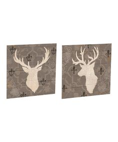 Look at this Stag Plank Outdoor Wall Art Set on #zulily today!