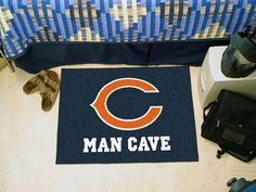 "NFL - Chicago Bears Man Cave Starter Rug 19""x30"""