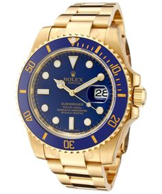 Amazon.com: Rolex Men's Submariner Automatic Blue Dial Oyster 18k Solid Gold: Watches
