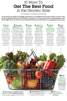 10 Ways to Get the Best Food in the Grocery Store. Dbl-click pic for larger chart. #Nutrition #Health