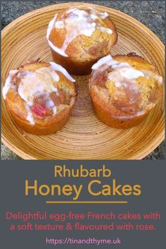 These delicious individual French cakes known as nonnettes are lightly flavoured with rose. Theyre made with the addition of rye flour but without eggs. This gives them an almost silky mouthfeel with a delightfully soft texture. Cupcake Recipes, Baking Recipes, Cupcake Cakes, Dessert Recipes, Cupcakes, Kid Desserts, Delicious Desserts, Yummy Food, Awesome Desserts