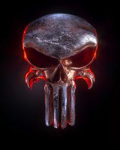 Punisher Skull Tattoo, Punisher Logo, Punisher Marvel, Daredevil, Gothic Wallpaper, Skull Wallpaper, Ghost Rider Marvel, Heavy Metal Art, Skull Pictures