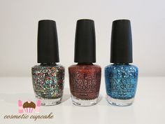 Cosmetic Cupcake: OPI Muppets collection: Rainbow Connection, Excuse Moi! and Gone Gonzo! swatches