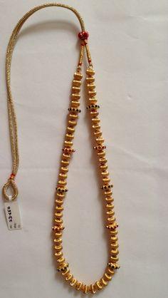 Gold bead mala