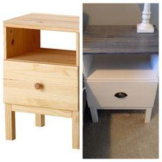 Ikea Tarva nightstand hack: