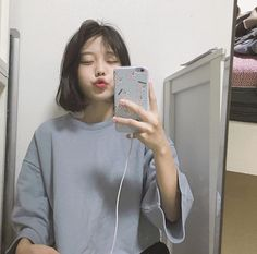 Image about girl in ulzzang by Tropical_a on We Heart It Ulzzang Short Hair, Korean Short Hair, Korean Aesthetic, Aesthetic Girl, Ulzzang Makeup, Ulzzang Korean Girl, Asian Hair, Ulzzang Fashion, Cute Korean