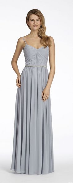 0e4215cd916 Style 5701 Hayley Paige Occasions bridesmaids dress - Platinum chiffon A-line  bridesmaid gown