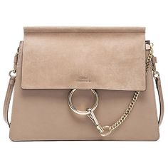 Chloe Medium Faye Bag (45 775 UAH) ❤ liked on Polyvore featuring bags, handbags, beige handbags, beige purse and beige bag
