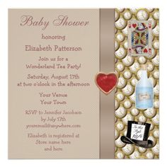 Alice in Wonderland Baby Shower Tea Party Invites from Zazzle.com
