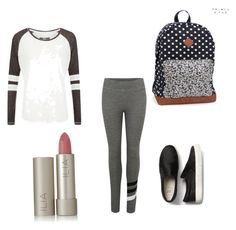 """Great school look #school"" by brooklyne200 on Polyvore featuring beauty, Sundry, Superdry, Aéropostale and Ilia"